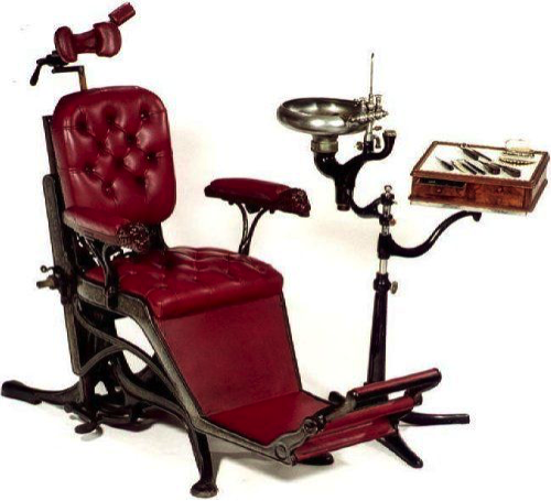 The old dental chair