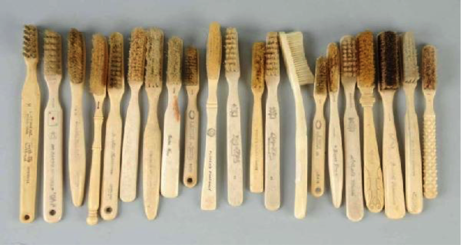 old wooden toothbrushes